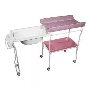 Bañera Extraíble Topos Rosa Plastimyr