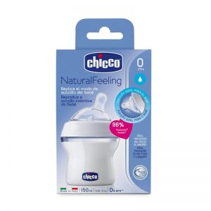 Chicco Biberón Natural Feeling Tetina Silicona 0m+ 150ml Flujo Normal