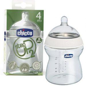 Chicco Biberon Step Up 250 ml Flujo Regulable 4 meses