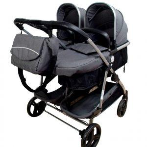 Carro Gemelar Reversible Combi Plus de Mundi Bebé